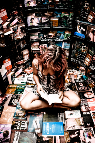 Girl In The Bookgloo